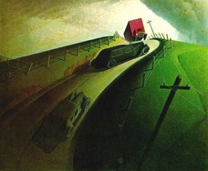 Death on Ridge Road by Grant Wood