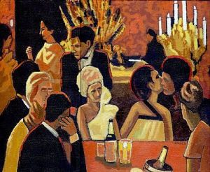 CocktailParty Anon painting Wash Post