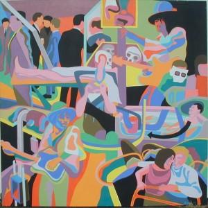 "Julie Lomoe, acrylic, 64""x64"", 1969"