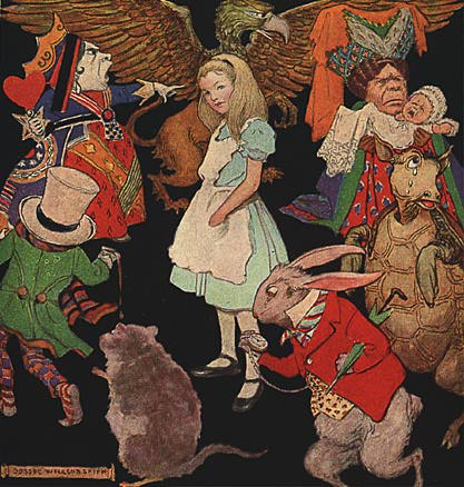 alice in wonderland characters similitude