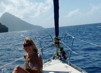 Barbara Little Horse sailing