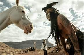"Johnny ""Tonto"" Depp with Silver"