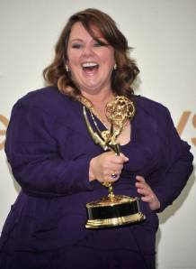 Melissa McCarthy with 2011 Emmy