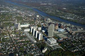 Albany aerial view