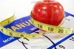 New Year's apple and tape measure