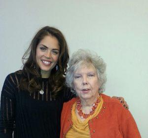 With Kelly Thiebaut (Dr. Britt Westbourne)
