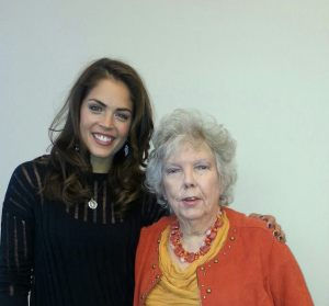 With Kelly Thiebaut (Dr. Britt Westbourne)