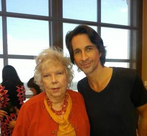 With Michael Easton (Dr. Silas Clay)