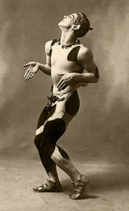 Nijinsky in Afternoon of a Faun. Costumes weren't quite so revealing back then, before they invented Spandex.