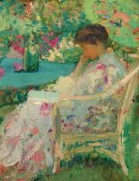 Woman Reading by Richard Emil Miller