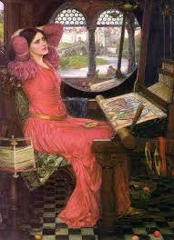 """Another Waterhouse painting of the Lady of Shalott, titled """"I am half sick of shadows"""""""