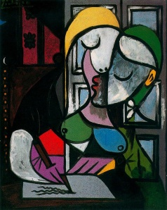 Woman Writing, Picasso 1934
