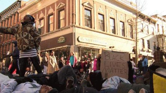 Victorian Stroll protest 2014