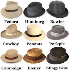 Hat styles - men
