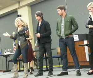 GH Fan event in 2014. From left: Laura Wright, Michael Easton, Bryan Craig, Maura West. Bryan plays Morgan, who's now possibly bipolar.