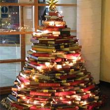 Christmas book tree.