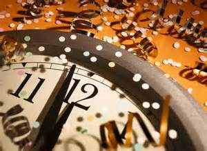 New Year's clock midnight