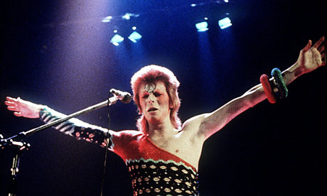 David Bowie performs as Ziggy Stardust