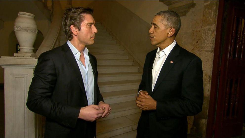 Obama & David Muir Cuba 3-21-16