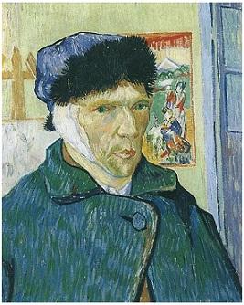 Van Gogh selfportrait-bandaged